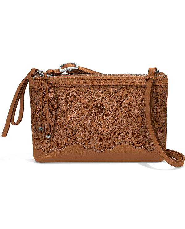 Toffee Brighton H3693T Clarissa Bag leather crossbody bag with western style