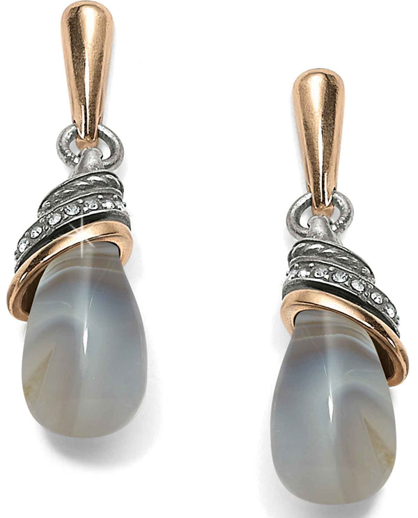 Brighton JA497E Neptune's Rings Banded Agate Teardrop Earrings