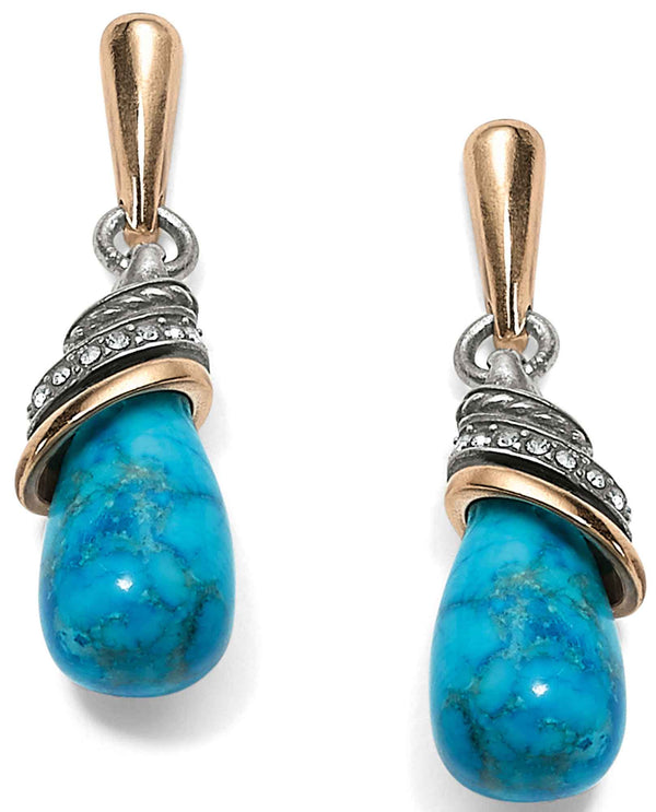 Brighton JA497J Neptune's Rings Turquoise Teardrop Earrings