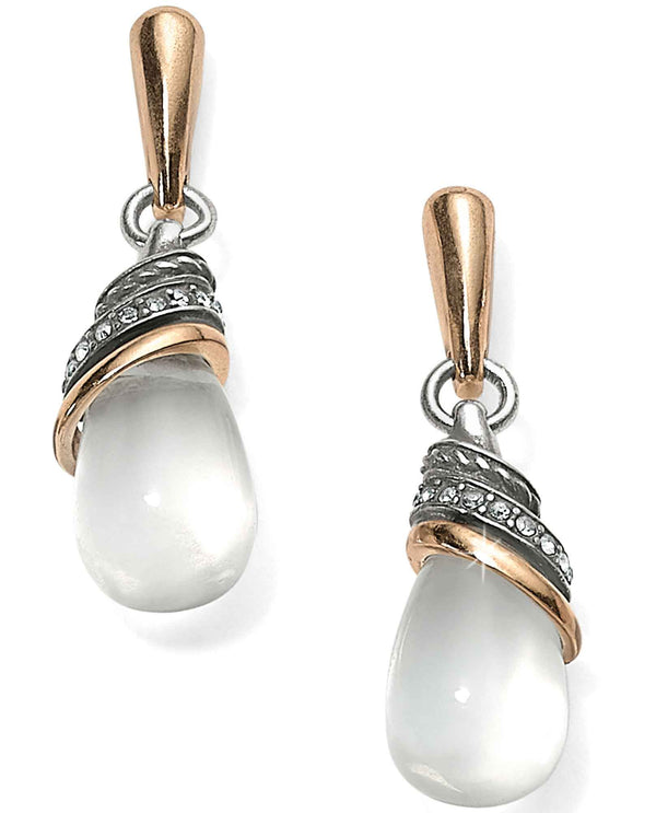 CRST Brighton JA497B Neptune's Rings Crystal Teardrop Earrings.
