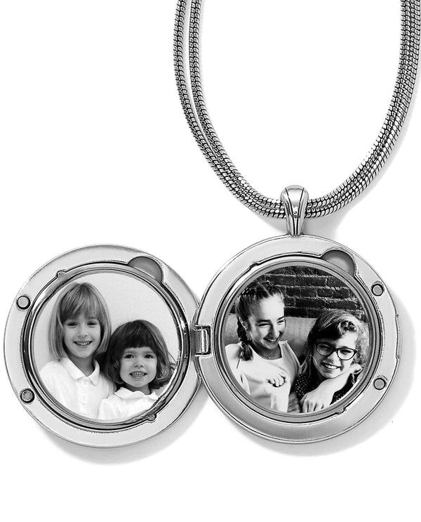 Brighton JL9221 Toledo Alto Noir Convertible Locket Necklace locket necklace that holds 2 photos