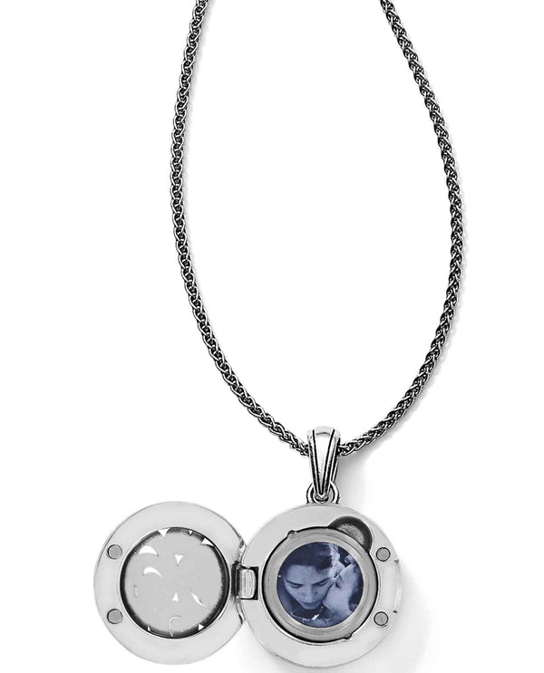 Brighton JM0862 Spin Master Convertible Locket Necklace petite round locket necklace