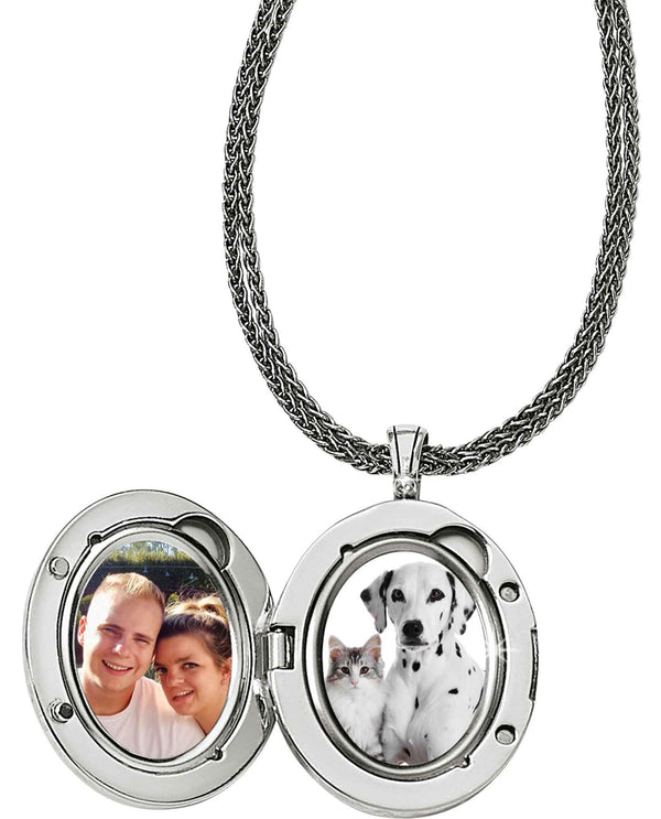 Brighton JM085B Precious Momento Locket Necklace that holds two photos inside