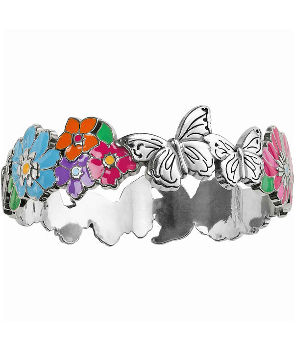 Brighton JF6473 Enchanted Garden Bangle flowers and butterflies bangle bracelet for spring