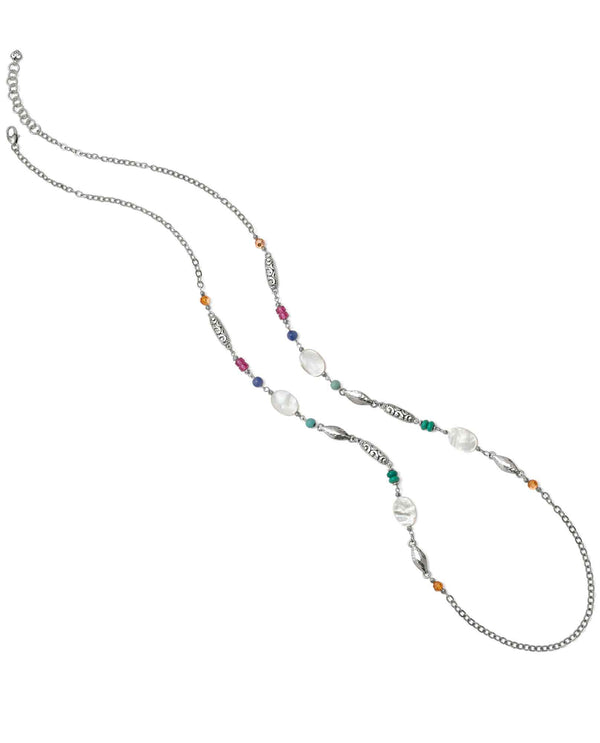 Brighton JM0883 Barbados Tropic Long Necklace long necklace with colorful beads &  mother of pearl