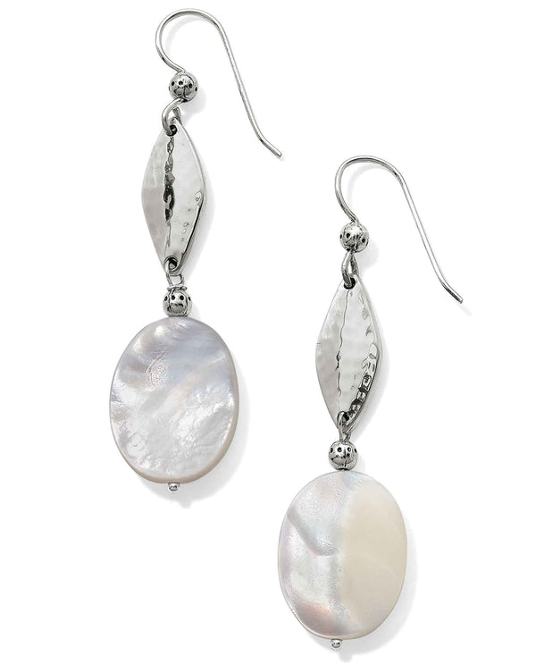 Brighton JA5293 Barbados Tropic Long French Wire Earrings with mother of pearl accents