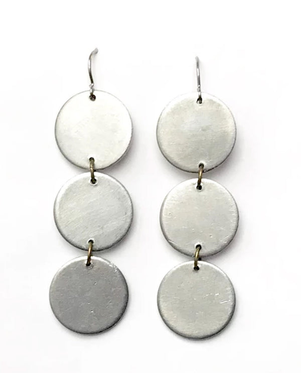 Mend On The Move Stepping Stones Earring silver handmade earrings made from auto parts