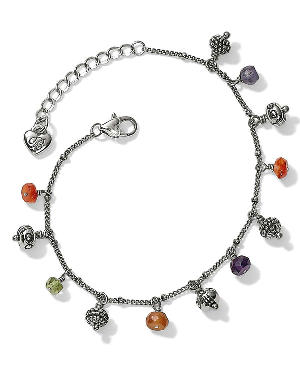 Brighton JF6283 Play Of Light Bracelet delicate silver bracelet with colorful dangling beads