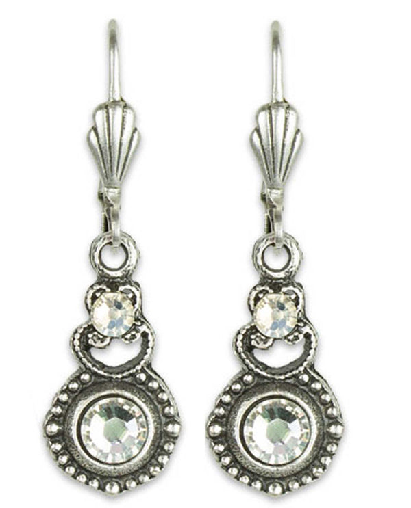 Anne Koplick ES09 Pendulum Wire Earring clear Swarovski crystal earrings