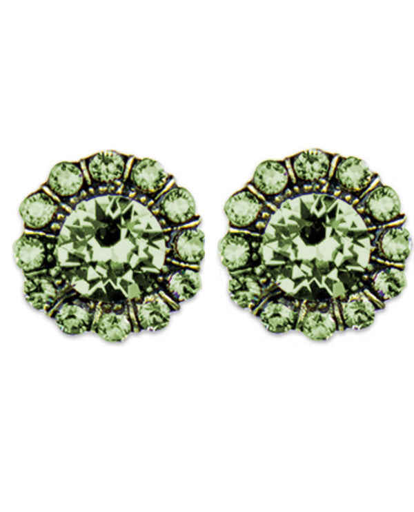 Anne Koplick ER4718 Faceted Gold Tone Post Earring prdt green Swarovski stud earrings