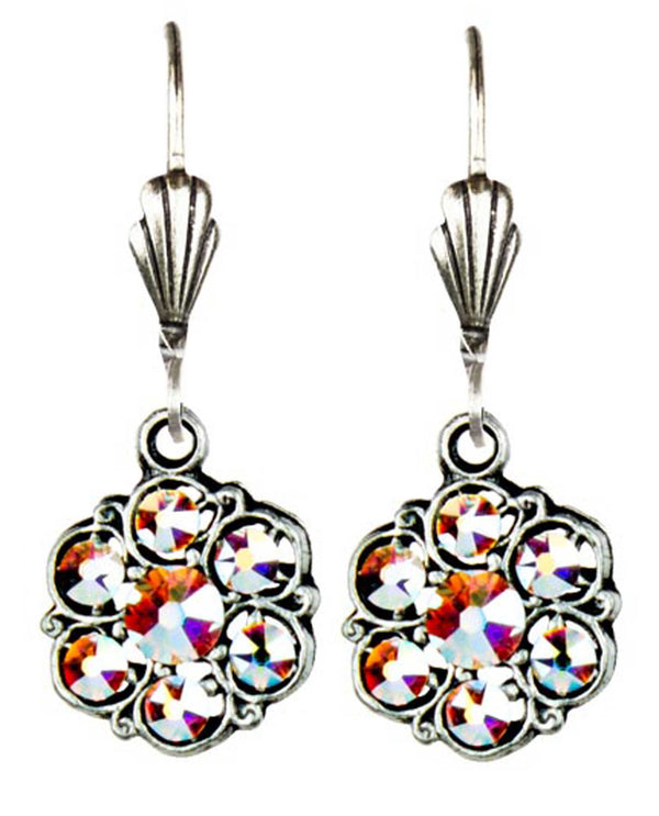 Anne Koplick ES3141 Mini Stone Flower Earring ABCL floral shape Swarovski crystal earrings