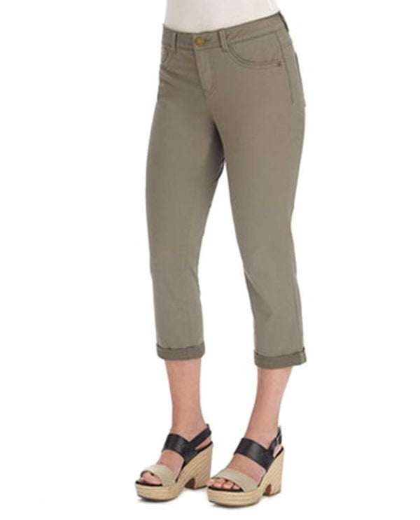 Democracy B1176VMX2 AB Solution Ankle Pants olive capris for women