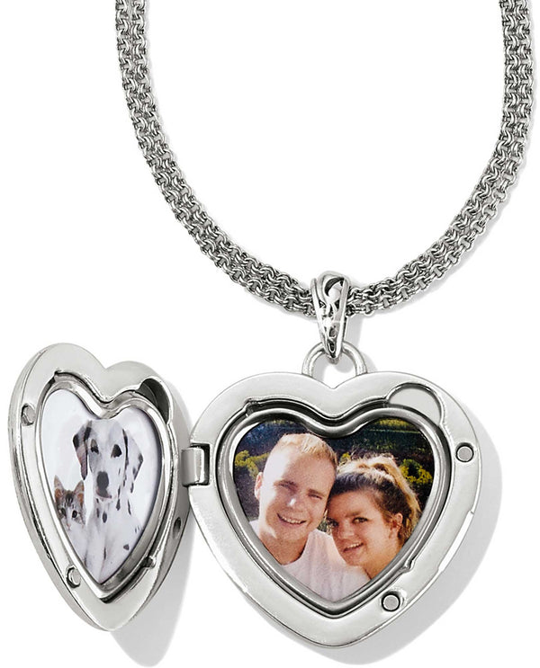 Brighton JM0920 Timeless Heart Convertible Locket Necklace