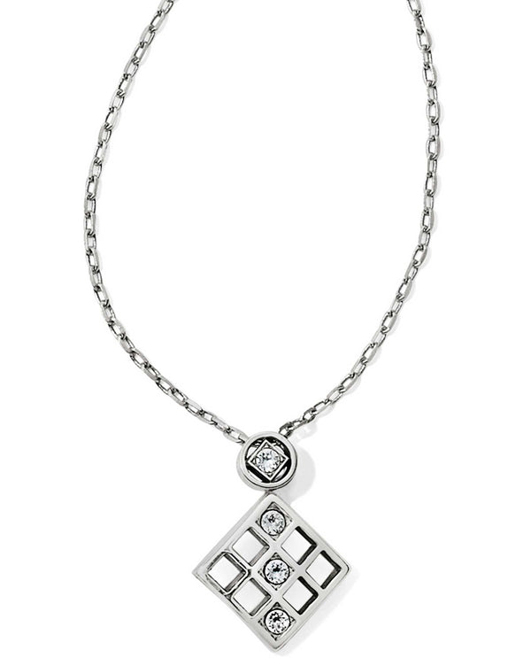 Brighton JM1231 Bonjour Drop Pendant geometric Swarovski crystal necklace
