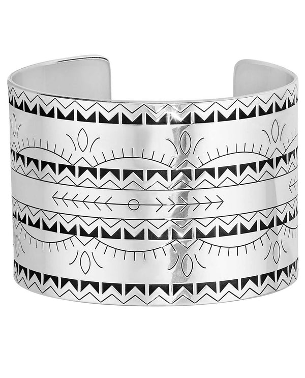 Brighton JF6840 Southwest Dream Sage Cuff etched silver cuff bracelet with western flair