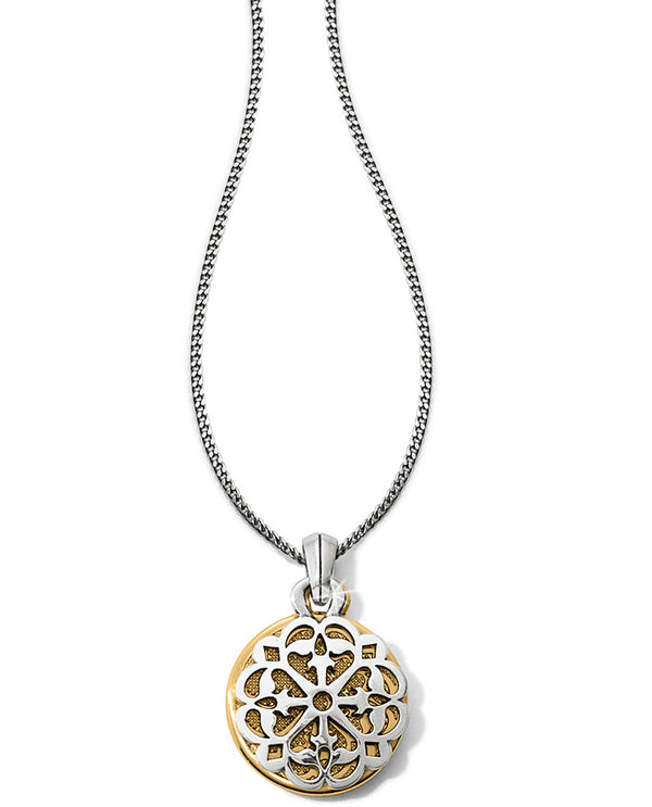 Brighton JM1062 Ferrara Two Tone Reversible Long Necklace round medallion necklace