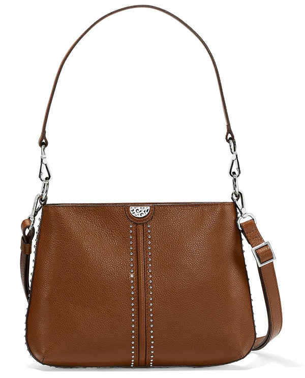 Brighton H4306U Jett Convertible Cross Body brbn brown leather crossbody bag with shoulder strap