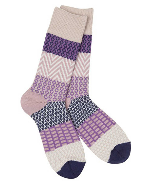 World's Softest Socks WS66614-554 Madeline Gallery Crew Socks