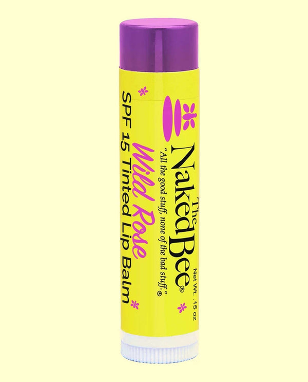 The Naked Bee Spf 15 Tinted Lip Balm Wild Rose