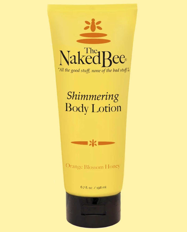 The Naked Bee Shimmer Lotion 6.7 Oz organic shimmer body lotion with aloe vera and honey