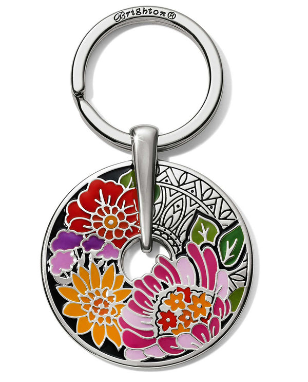 Brighton E18080 Africa Stories Floral Key Fob round floral keychain