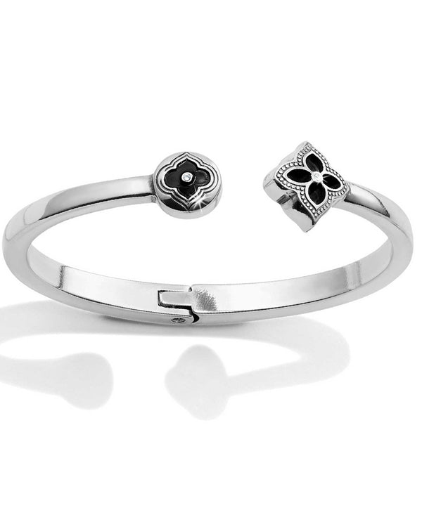 Brighton JF6830 Toledo Collective Hinged Bracelet silver bangle with Swarovski crystals
