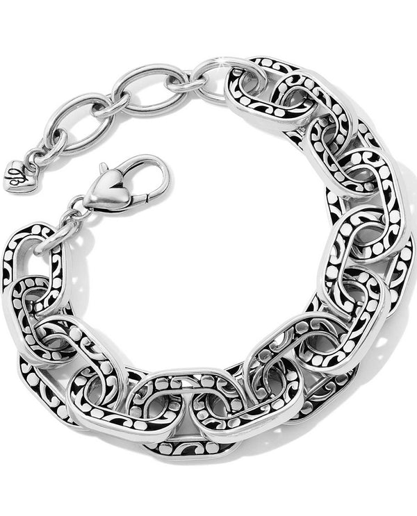 Brighton JF6600 Contempo Linx Bracelet chunky silver bracelet with a swirly design