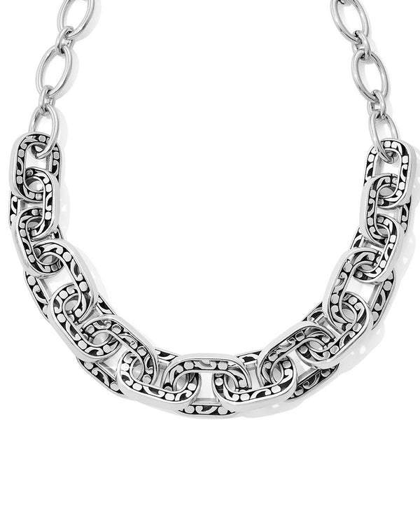 Brighton JM0960 Contempo Linx Necklace chunky silver necklace with scrolls