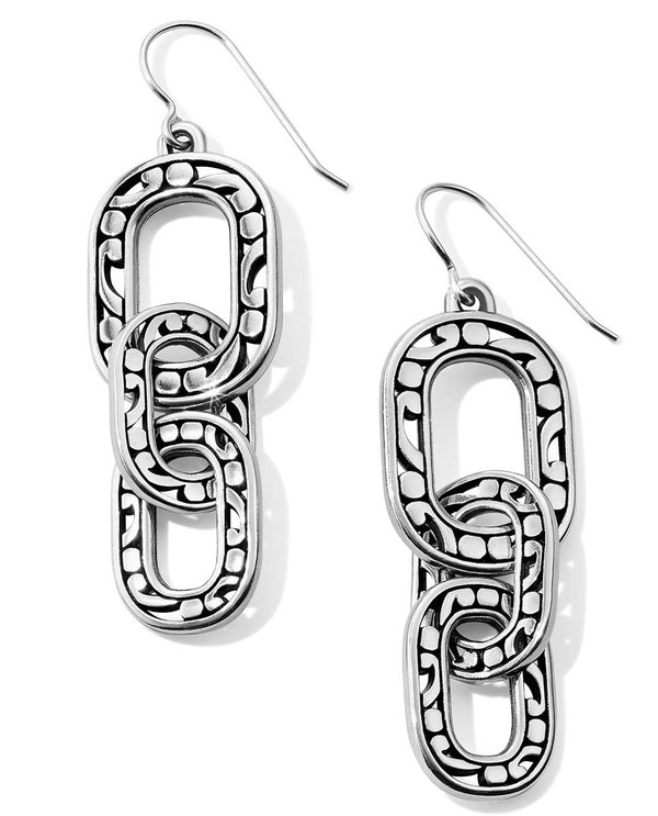 Brighton JA5370 Contempo Linx French Wire Earrings silver link earrings