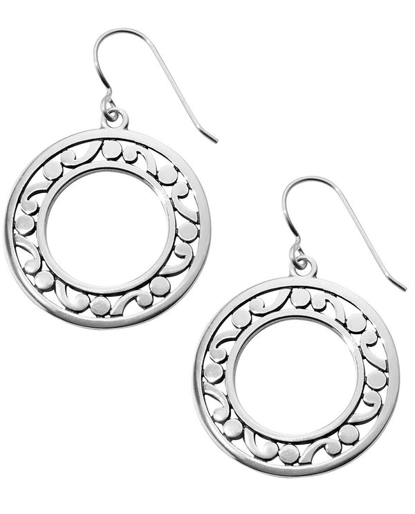 Brighton JA5380 Contempo Open Ring French Wire Earrings open silver medallion earrings
