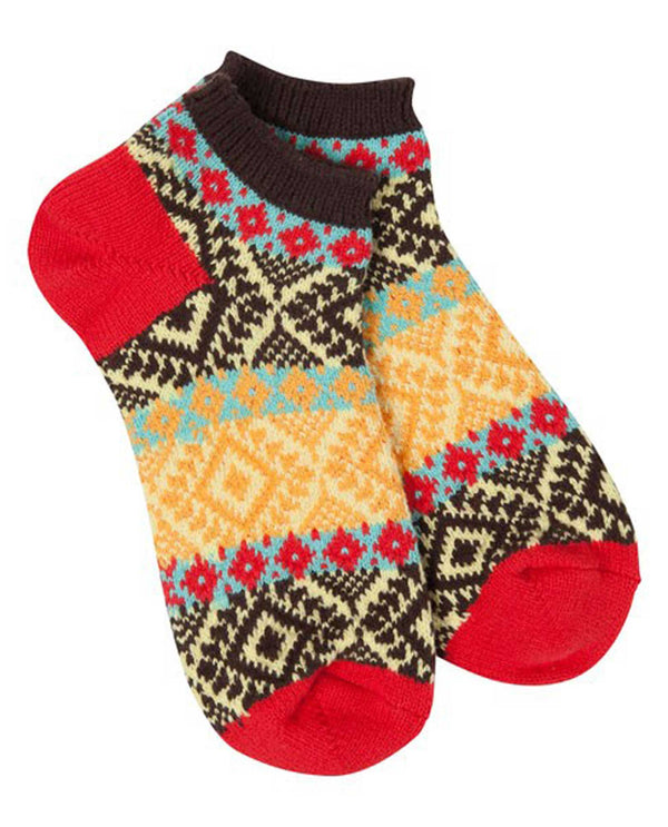 World's Softest Socks WSGALLO-482 Fiesta Textured Low Socks