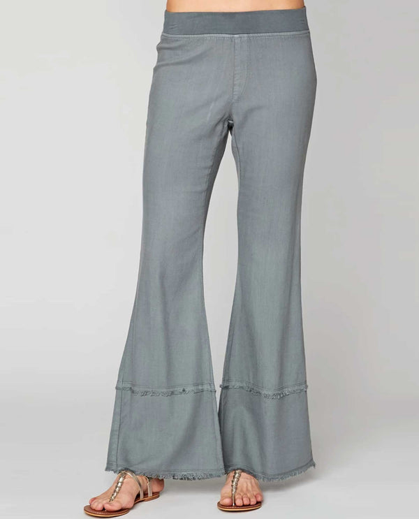 XCVI Wearables 22253W Arrin Twill Pant spry light blue wide leg pants with elastic waist