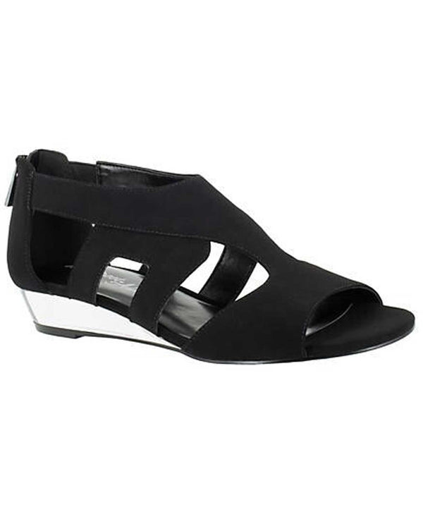 Easy Street Shoes 31-0112W Abra Wide Lo Wedge Sandals black wide low wedge sandals