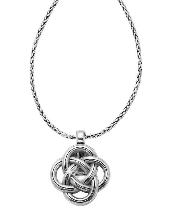 Brighton JM1200 Interlok Badge Clip Necklace silver infinity knot badge clip necklace