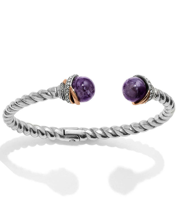 Brighton JF665B Neptune's Rings Amethyst Open Hinged Bangle