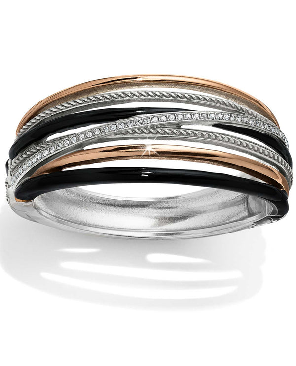 Brighton JF6643 Neptune's Rings Black Hinged Bangle Bracelet