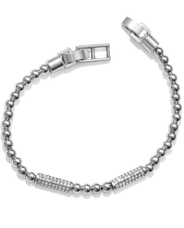 Brighton JF6761 Meridian Petite Stack Bar Bracelet silver ball bracelet with Swarovski bars