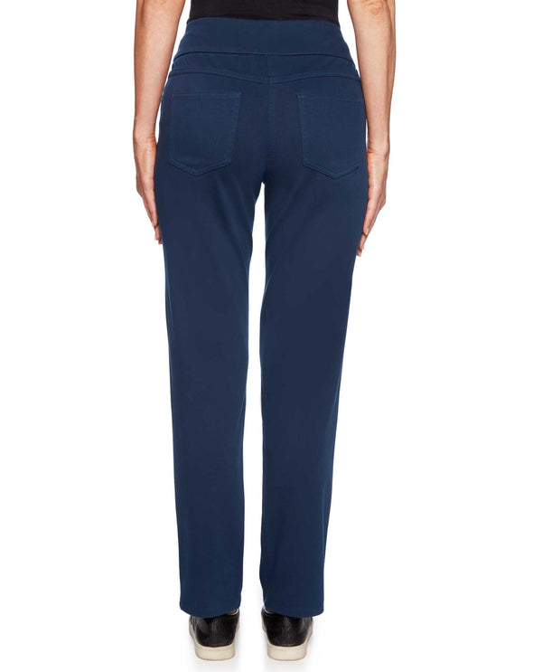 Ruby Rd 57102 Pull On Knit Twill Pant back view