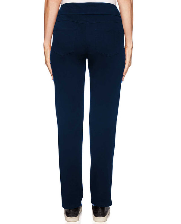 Ruby Rd 57302 Knit Twill Pant midnight blue pull on pants for women