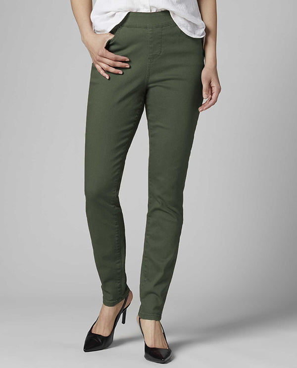 JAG Jeans J2711552 Maya Skinny Jeans juniper green skinny jeans with pull-on waistband