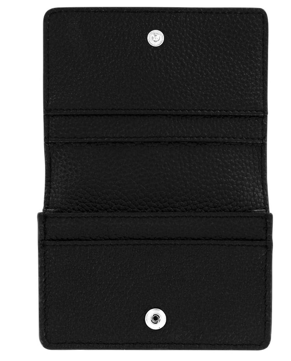 Brighton E31513 Pretty Tough Card Case Italian embossed black leather card case