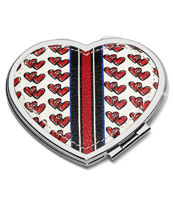 Brighton E5313M Love Doodle Heart Compact Mirror heart shaped compact mirror