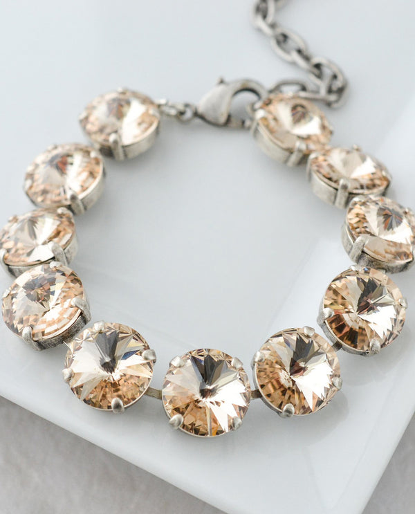 12Mm Rivoli Bracelet By Rachel Marie Designs with Swarovksi crystals