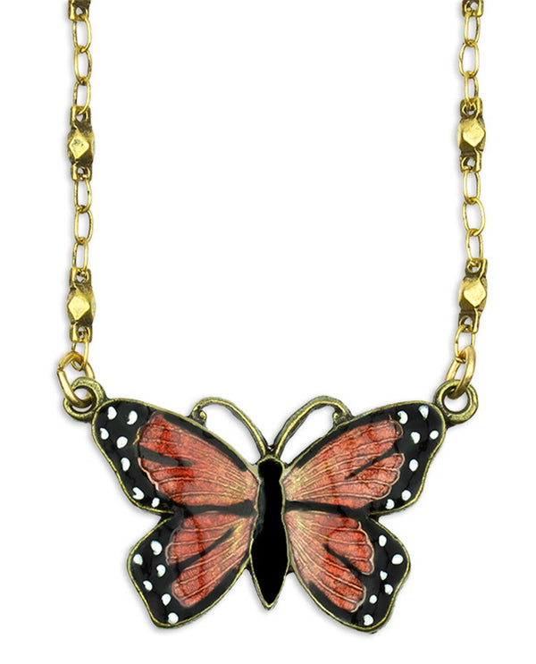 Anne Koplik NK4831AORA Mini Monarch Butterfly Necklace