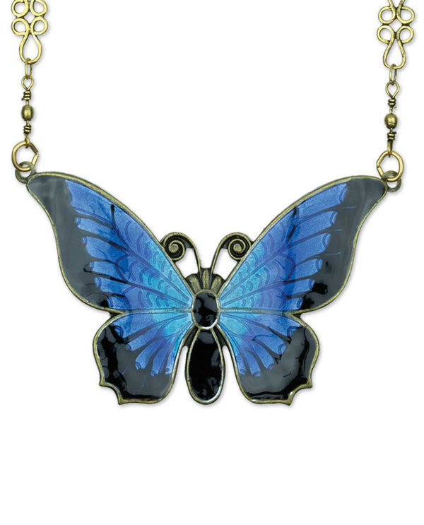 Anne Koplik NK4824BBER Large Enamel Butterfly Necklace
