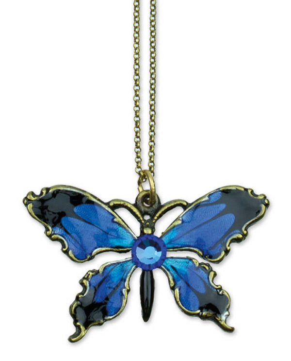 Anne Koplik NK4824ABER Small Butterfly Necklace