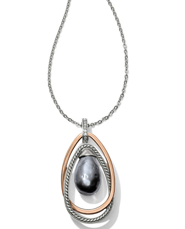 Brighton JM118B Neptune's Rings Gray Pearl Pendant Necklace