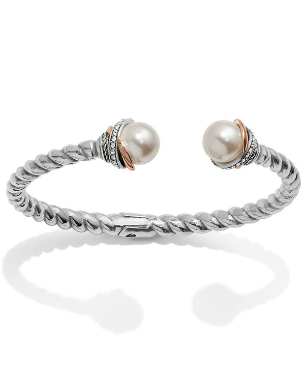 Brighton JF665D Neptune's Rings Pearl Open Hinged Bangle