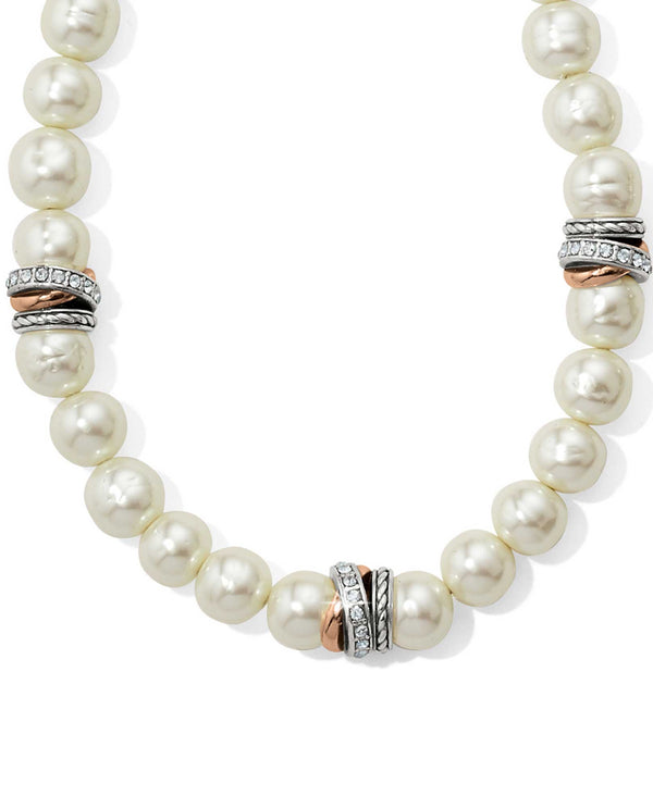 Brighton JM104A Neptune's Rings Pearl Short Necklace