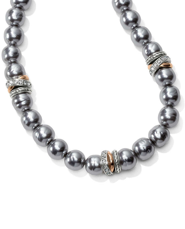 Brighton JM104B Neptune's Rings Gray Pearl Short Necklace